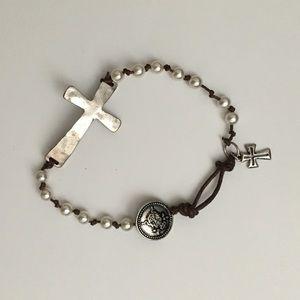 Jewelry - Boho cross bracelet